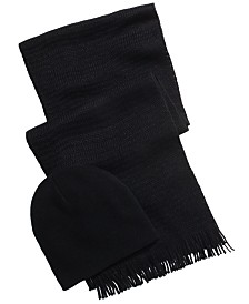 Alfani Men's Beanie & Scarf Gift Set, Created For Macy's