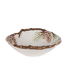 Fitz & Floyd Forest Frost Centerpiece Bowl