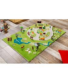 Farm 3D Kids Play Rug Playmat