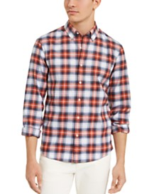 Michael Kors Men's Slim-Fit Stretch Brushed Plaid Rory Shirt