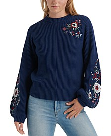 Cotton Embroidered Sweater