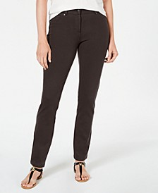 Petite Ponte-Knit Skinny Pants, Created for Macy's