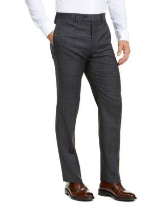 Men's Classic-Fit Stretch Check Flannel Dress Pants