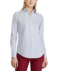 Stripe-Print No-Iron Button-Down Shirt