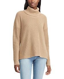 Lauren Ralph Lauren Ribbed Cotton Turtleneck Sweater