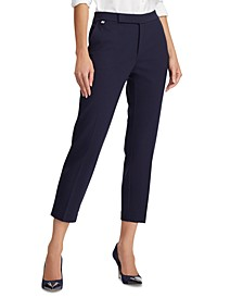 Stretch Ponte Straight-Leg Pants