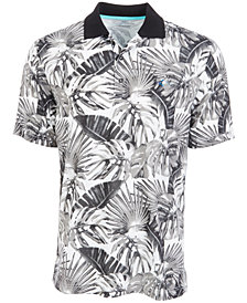 Attack Life by Greg Norman Men's Tropical-Print Polo