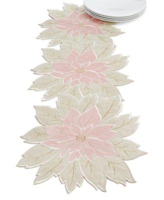 Blushing Poinsettia Cutwork Centerpiece
