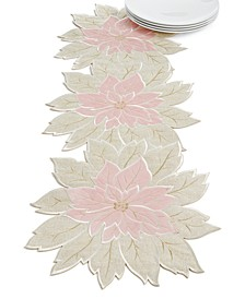 Blushing Poinsettia Cutwork Centerpiece