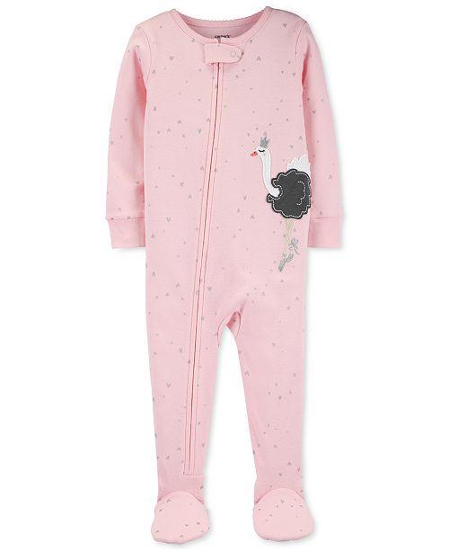 Carter's Baby Girls Cotton Footed Swan Ballerina Pajamas