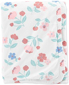 Toddler Girls Floral-Print Plush Blanket
