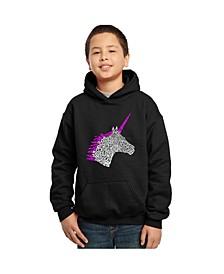 Boy's Word Art Hoodies - Unicorn