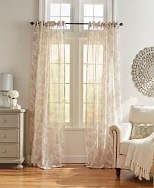 Elrene Westport Floral Tie-Top Sheer Window Curtain