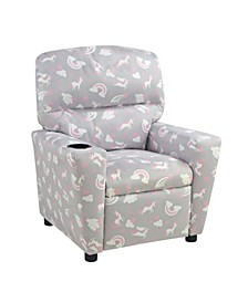 Kangaroo Trading Co. Kid's Recliner with Cupholder - Unicorn Dreams