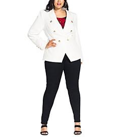 Trendy Plus Size Rock Royalty Jacket