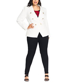City Chic Trendy Plus Size Rock Royalty Jacket