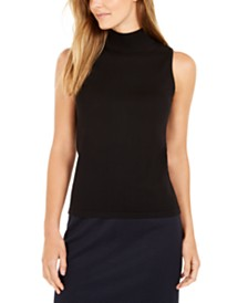 Calvin Klein Sleeveless Mock-Neck Top
