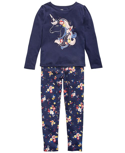 Epic Threads Toddler Girls Unicorn T-Shirt & Floral-Print Leggings, Created for Macy's