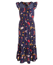 Big Girls Lace & Floral-Print Maxi Dress, Created For Macy's