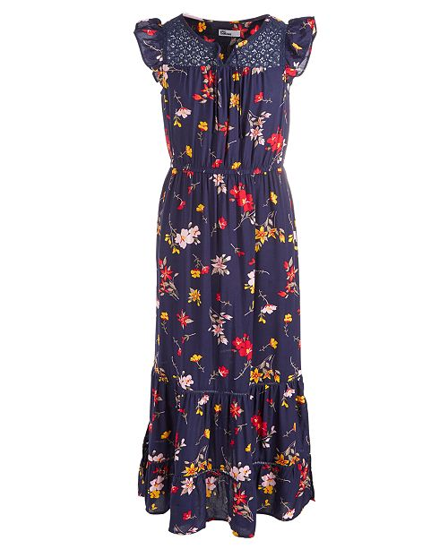 Epic Threads Big Girls Lace & Floral-Print Maxi Dress, Created For Macy's