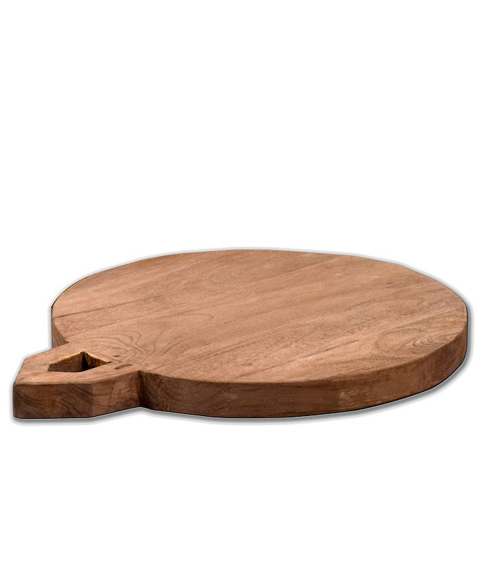 """Villa2 - Solid Wood Chopping Board with 0.5"""" Wooden legs in Weathered Vintage Finish"""