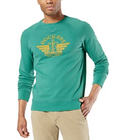 Dockers Men's Logo Graphic Crewneck Sweatshirt