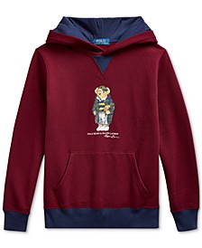 Big Boys Football Bear Fleece Hoodie Sweatshirt