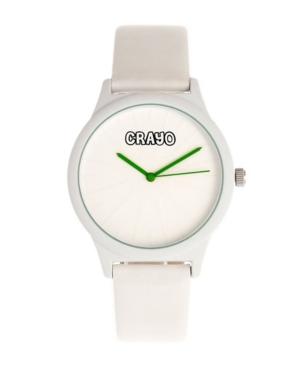 Unisex Splat White Leatherette Strap Watch 38mm