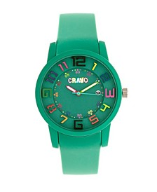 Unisex Festival Teal Silicone Strap Watch 41mm