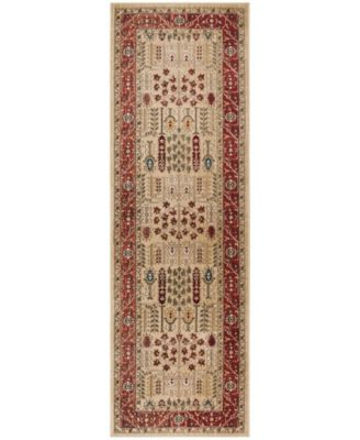"""Margaux LRL1297C Red and Beige 2'6"""" X 8' Runner Area Rug"""