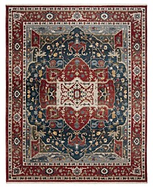 Camille LRL1225A Red and Navy 8' X 10' Area Rug