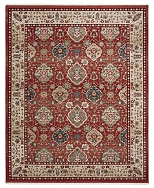 Ariel LRL1255C Red and Beige 9' X 12' Area Rug