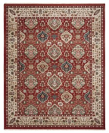 Ariel LRL1255C Red and Beige Area Rug