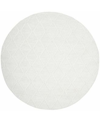 Millie LRL6310A Ivory and Ivory 6' X 6' Round Area Rug