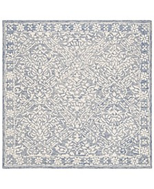 Olivier LRL6935M Blue and Ivory 5' X 5' Square Area Rug