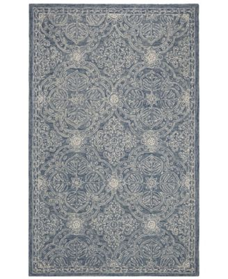 Etienne LRL6603M Blue and Ivory 5' X 8' Area Rug