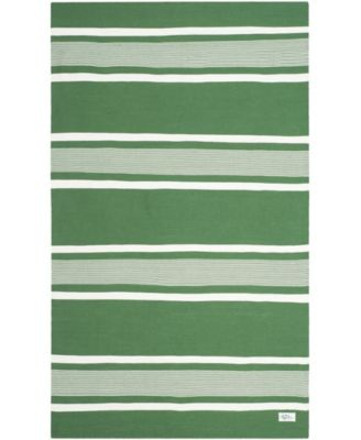 Hanover Stripe LRL2461B Green 8' X 10' Area Rug