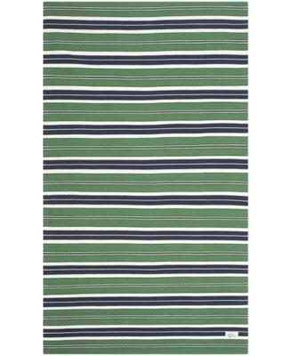 Leopold Stripe LRL2462K Green 4' X 6' Area Rug