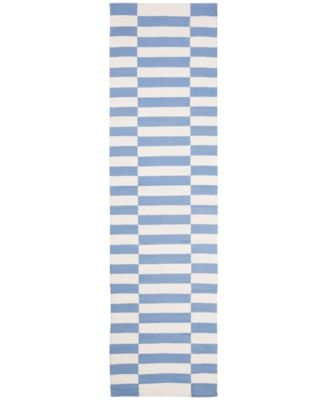 "Ludlow Stripe LRL7350B Chambray 2'3"" X 8' Runner Area Rug"