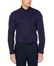 Men's Slim-Fit Square-Print Shirt