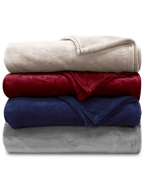 Lauren Ralph Lauren Micromink Plush Blanket Collection & Reviews