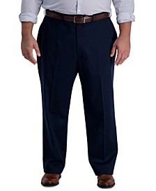 Men's Big & Tall Iron Free Premium Khaki Classic-Fit Flat Front Pant