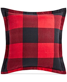 Buffalo Plaid Flannel European Sham, Created for Macy's