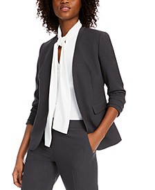 Collarless Open-Front Blazer, Created for Macy's
