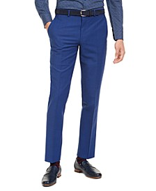 Men's Slim-Fit PerFormance Active Stretch Blue Sharkskin Suit Separate Pants, Created For Macy's