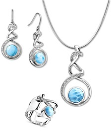 Larimar Dante Jewelry Collection in Sterling Silver