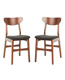Lucca Retro Cushion Dining Chair (Set Of 2), Quick Ship