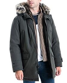 Michael Kors Men's Hooded Bib Snorkel Parka, Created for Macy's