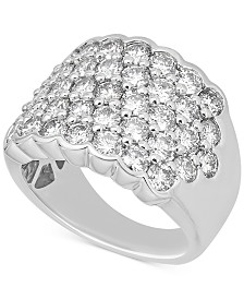 Diamond Pavé Cluster Ring (3-1/6 ct. t.w.) in 14k White Gold