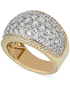 Diamond Pavé Band (3 ct. t.w.) in 14k Gold & 14k White Gold